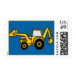 Backhoe Tractor Stamps