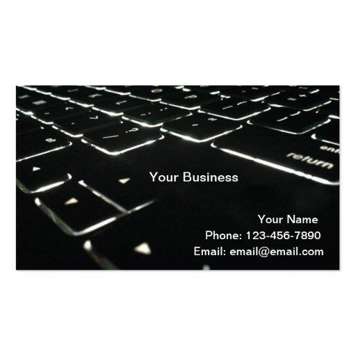 Backlit Business Cards