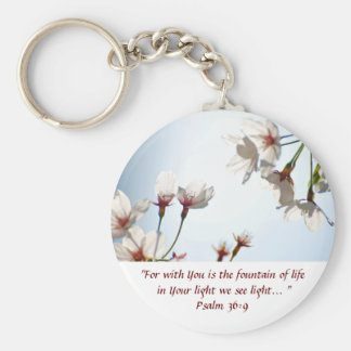 Backlit Cherry Blossoms 2 Key Chain