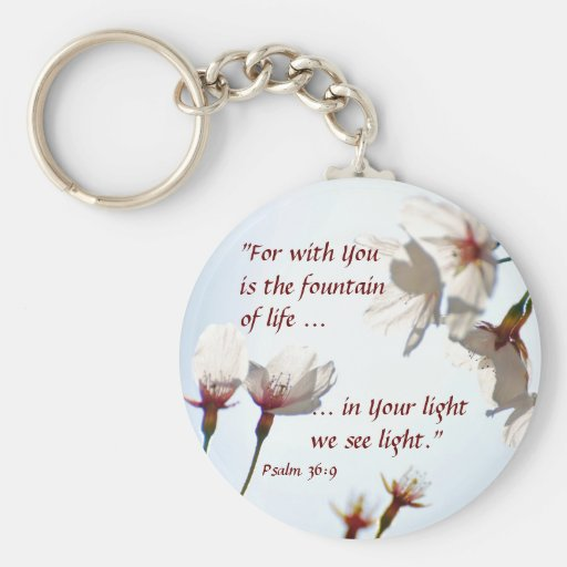 Backlit Cherry Blossoms 2 Keychains