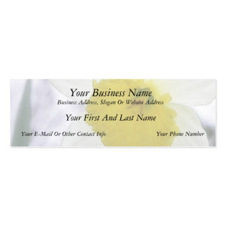 Backlit Daffodil Blossom Double-Sided Mini Business Cards (Pack Of 20)