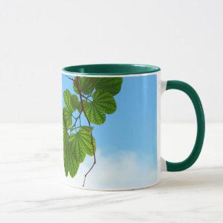 Backlit Leaves and Sky Ceramic Mug