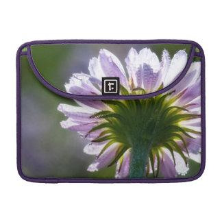 Backlit Purple Wildflower With Dewdrops MacBook Pro Sleeve