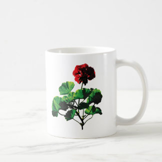 Backlit Red Geranium Coffee Mug
