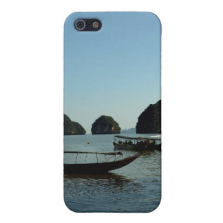Backlit remote islands in Thailand in blue mist iPhone 5 Cover