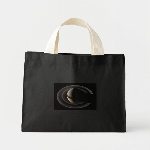 Backlit_Saturn_from_Cassini_Orbiter_2007_May_9 Tote Bag