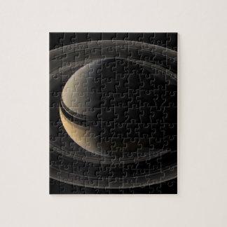 Backlit Saturn from Cassini Orbiter Puzzle Con Fotos