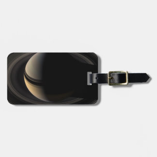 Backlit Saturn from Cassini To orbit Luggage Tag