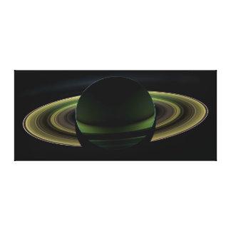 Backlit Saturn Planet Canvas Print