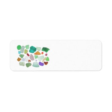 JoellesSeaGlass Backlit Sea Glass Return Address Label