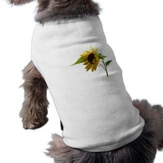 Backlit Sunflower Doggie Tshirt