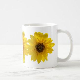 Backlit Sunflower (Helianthus) Coffee Mug