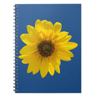 Backlit Sunflower (Helianthus) Spiral Notebooks