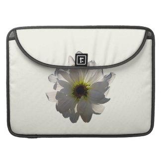 Backlit White Daisy Sleeve For MacBook Pro