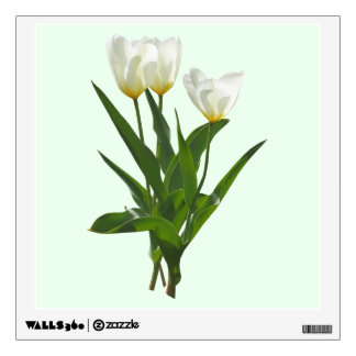 Backlit White Tulips Room Graphic