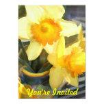 Backlit Yellow Daffodils Custom Invites