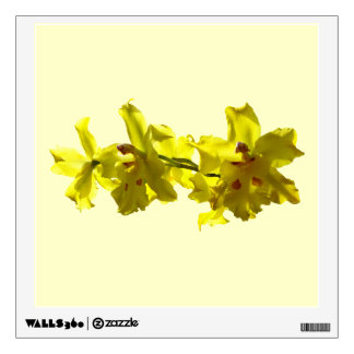 Backlit Yellow Orchids Room Graphics
