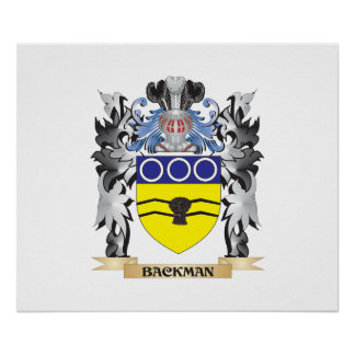 Backman Coat of Arms - Family Crest Poster