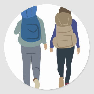 Backpack Classic Round Sticker