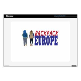 "Backpack Europe 15"" Laptop Skin"