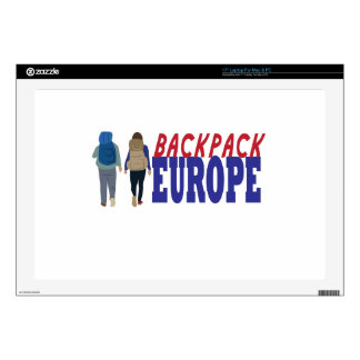 "Backpack Europe 17"" Laptop Decal"