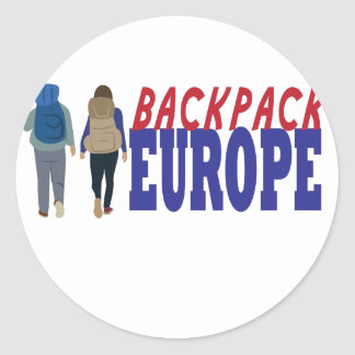 Backpack Europe Classic Round Sticker