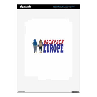 Backpack Europe Decals For iPad 3