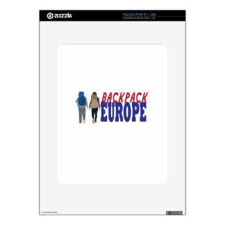 Backpack Europe iPad Decal