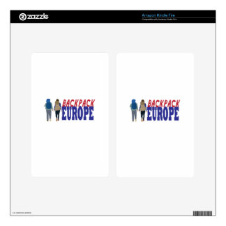 Backpack Europe Skin For Kindle Fire