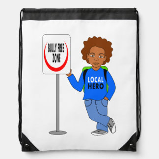 backpack for kids boy local hero bully free zone