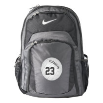 Backpack for volleyball player name jersey number