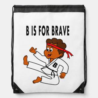 backpack karate kid cartoon kick in the air