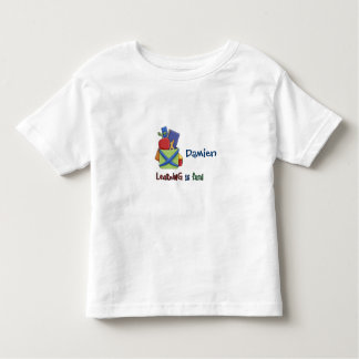 Backpack/Learning is fun!/Name Toddler T-shirt