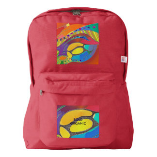 Backpack Red Bold Organic Design Life Scan