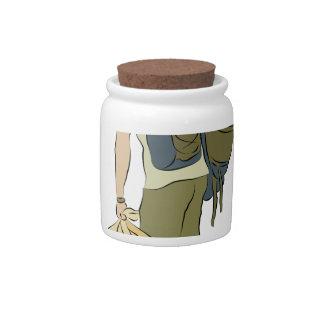 Backpack Traveler Candy Jars