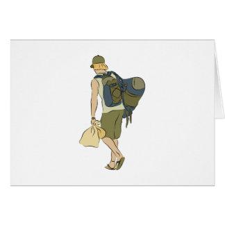 Backpack Traveler Card