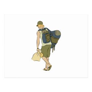 Backpack Traveler Postcard