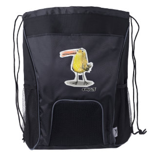 backpack_yellow chick drawstring backpack