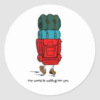 Backpacker Classic Round Sticker