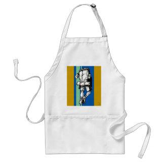 Backpacker (guy)-BlueGreen Adult Apron