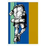 Backpacker (guy)-BlueGreen Greeting Card