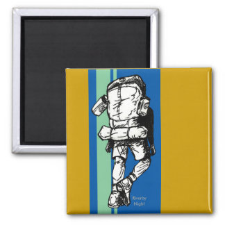 Backpacker guy -BlueGreen Refrigerator Magnet