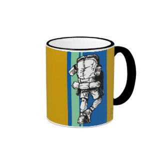Backpacker (guy)-BlueGreen Ringer Mug