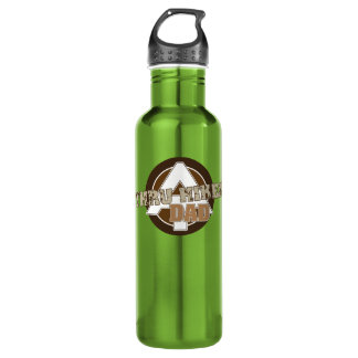 Backpacker, hiker stainless steel water bottle