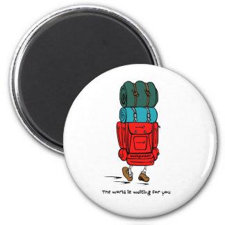 Backpacker Imán Redondo 5 Cm