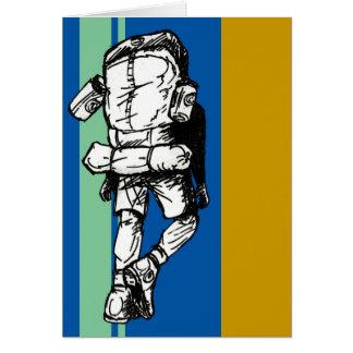 Backpacker (individuo) - azulverde tarjetas