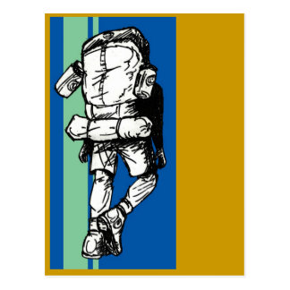 Backpacker (individuo) - azulverde tarjetas postales