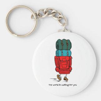 Backpacker Llavero Redondo Tipo Pin