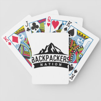 Backpacker Nation Bicycle Playing Cards