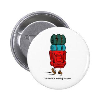 Backpacker Pinback Button